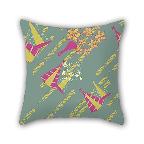 koonicee la feliz cumpleaños fundas de almohada de, 16x 16pulgadas/40por 40cm, decoración,...