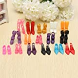 16 Pairs Fashion Dolls Shoes Heels Sanda...