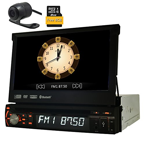 Eincar 7inch Wince Autoradio-Stereo Singen 1 Din Autoradio-Empf?nger Bluetooth GPS Navigation Aux Subwoofer FM AM RDS Car Entertainment-Windows-System-Steuerger?t Car DVD-Player + Free 8GB Karte + Free Backup-Kamera