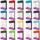 EllaTex FROTTEE Spannbettlaken für WASSERBETTEN / BOXSPRINGBETTEN 180x200 - 200x220 + 40 cm Steghöhe in Farbe: Natur