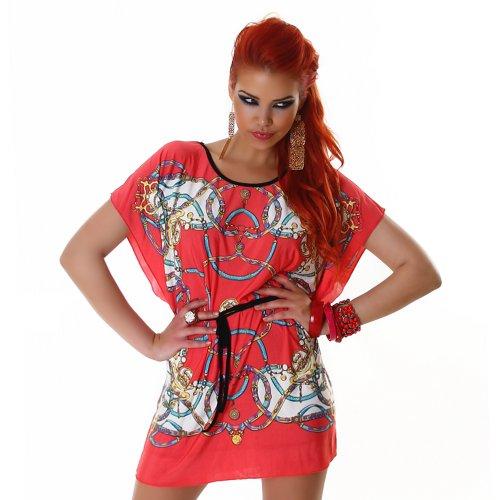 Panacher Ladies Tee Shirt tunica pipistrello dimensioni dell'unità 40,42,44. Rosso