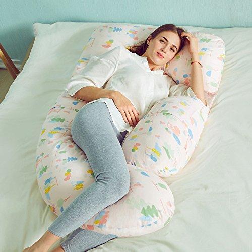 LJHA Oreillers d'allaitement Oreiller d'allaitement Oreiller de Taille Oreiller de maternité 2 Couleurs Disponibles 175 * 80cm Oreillers d'allaitement (Couleur : A)