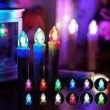 YESDA LED Kerzen RGB Flammenlose LED Taper Christmas Kerzenlicht Kerzen betrieben, mit Fernbedienung, für Hochzeit, Votiv, Hochzeitsdeko, Partys, Geburtstags (10 Stück)