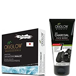 OXYGLOW SKIN WHITENING KIT 260GM AND CHARCOAL FACE WASH