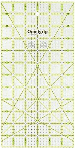 """Prym 6\"""" x 12\"""" Omnigrip rutschfestes Lineal (ca. 16,5 cm x 16,5 cm)"""