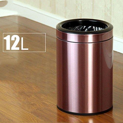 Acier inoxydable pression cercle poubelle pas double grande cuisine ( Couleur : La lumière pourpre )