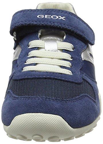 Geox Snake A, Sneakers Basses Fille Bleu (Denimc4008)