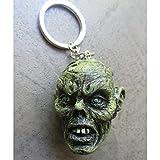 hotrodspirit–Puerta Llave Metal y Resine Tete de Zombie verde monstruo Kustom Auto coche Americaine