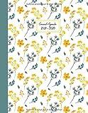 Grand Agenda 2019-2020: Agenda de Juillet 2019 à Juillet 2020, Semainier grand format 21x28cm, simple & graphique, idéal prise de rendez-vous, motif fleuri vintage jaune et vert