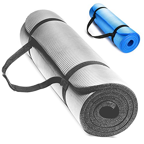 Premium TechFit extra tick 15 mm fitness palestra tappetino, 18 x 60 cm, ideale per esercizi del pavimento, campeggio, yoga, stretching, ABS, pilates