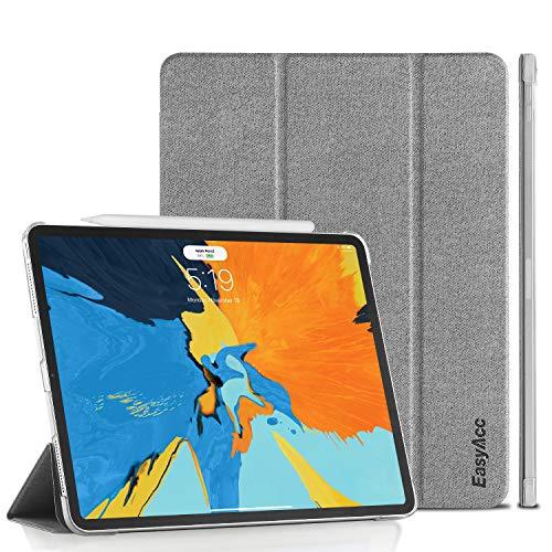 EasyAcc Hülle für iPad Pro 11 2018, Kompatible Apple Pencil 2, Ultra Dünn Transluzent Matt Rückseite Abdeckung mit Auto aufwachen/Schlaf Funktion Kompatibel für iPad Pro 11 Zoll 2018 (Grau)