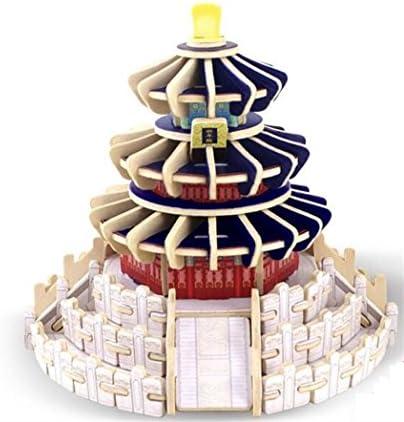 WeieW Jouet d'apprentissage de cognitif pour enfants Jouet fantastique d'apprentissage en bois de d'apprentissage puzzle en bois du bâtiHommes t 3D cadeaux fantastiques pour des enfants (temple du ciel) f0f445