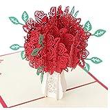 LK.8871 1PCS Vorzügliches dreidimensionales Papier des Geschenk-3D, Das Hholiday Hohle Gruß-Karte schnitzt( Rose )