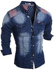 Cloudstyle Haut de shirt mince affaire décontraction-tee-shirt homme-jean homme