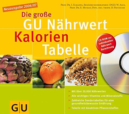 Nährwert-Kalorien-Tabelle Neuausgabe 2006/07 (mit CD), Die große GU