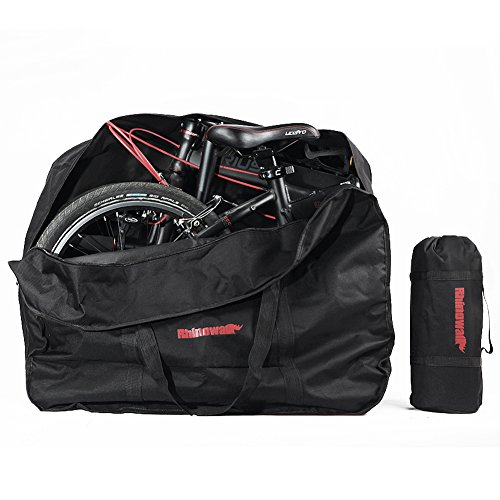 Selighting Borsa per Bicicletta Pieghevole Sacchetto Porta Bici Borsa da Viaggio per Bici Imbottita Pieghevole 1680D Impermeabile Ciclismo Lounge Bagaglio per MTB Road bike (Nero)