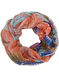 ec2aeac874b3 Ella Jonte FOULARD ÉCHARPE FEMME loop tube snood tendance by avec Design  plume serenity pastell agréable