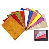 Self-Adhesive Glitter Foam Sheets A4 Size Sticky Back Foam Sheets Pack of 10