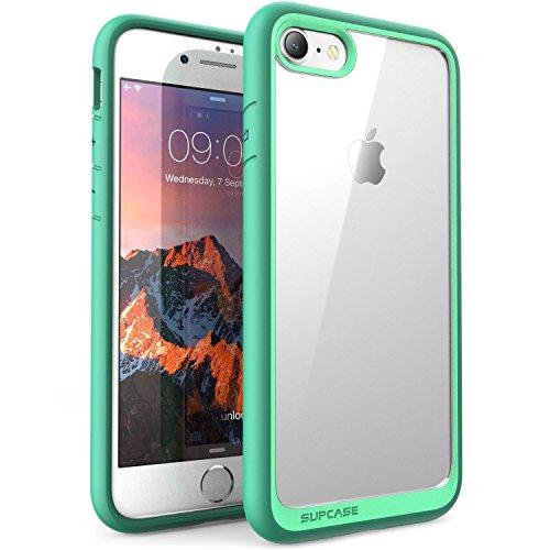 Custodia iphone 8 iphone 7, i-blason - cover antiurto [shock absorbing] angoli rinforzati - pannello posteriore trasparente - bumper (verde)
