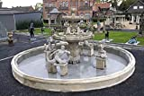 Brunnen, Gartenbrunnen, Zierbrunnen, fountain, Ø 1100 Farbe sandstein