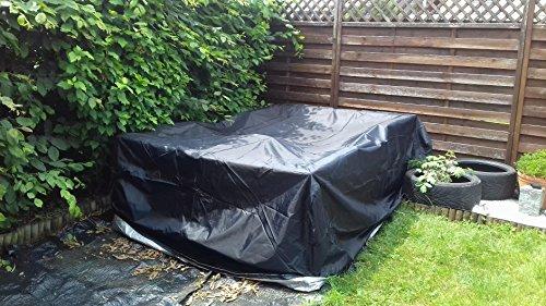 comprare on line Anderlay Copertura per Giardino Mobili Tabella Copritavolo da Giardino Impermeabile Poliestere Oxford Nero 213 x 132 x 74CM prezzo