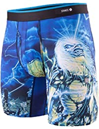 Stance The Boxer Brief Poly Blend Boxer Shorts Medium Iron Maiden BB Black