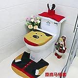 Set WC Natale Copriwater Copri Serbatoio Tappettino Tema Babbo Natale Pupazzo by Hi Suyi