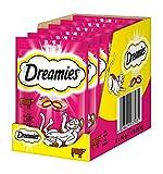 Dreamies Katzensnacks Klassiker / Katzenleckerli mit wertvollen Vitaminen und Mineralstoffen / Rind / 6 x 60g