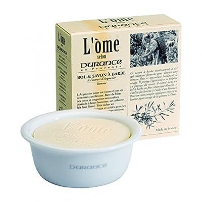 Durance de Provence White Ceramic Shaving Soap Bowl 10cm Dia