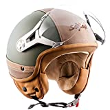 SOXON SP-325-URBAN Green · Moto Retro Scooter Urban Bobber Chopper Urbano Vintage Mofa Casco...