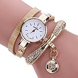 #9: Saingace Women's Watch Fashion Casual Analog Quartz Rhinestone Bracelet Watch for Women Girls