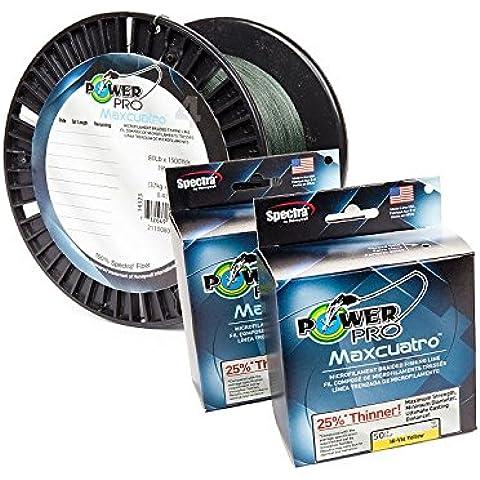 Power Pro Maxcuatro Linea 30LB 500yd 30-500 YELLOW MAX