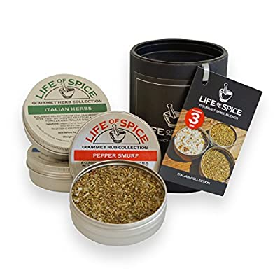 Life of Spice Italian Collection - Gift Set of 3 Life of Spice Salts, BBQ Rubs and Herbs (75g/30g/20g) - The Italian Job, Pepper Smurf and Italian Herbs by ...
