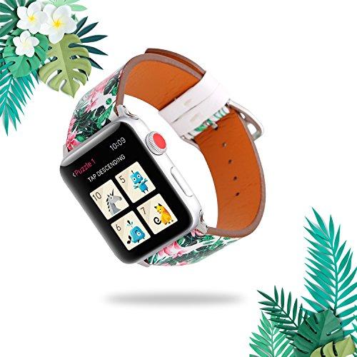 Für Apple Watch Armband 38mm 42mm, Watch Lederarmband Band Strap Armbänder Uhrenarmbänder Leder, für Damen & Herren, für iWatch Apple Watch Series 3, Series 2, Series 1, Sport, Nike+, Edition, Hermes