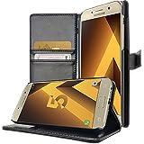 Coque Samsung Galaxy A3 2017 , Housse Luxe Portefeuille avec Support Video Galaxy A3 (2017) A320 , Buyus Etui Protecteur pour Galaxy A3 2017 - Noir