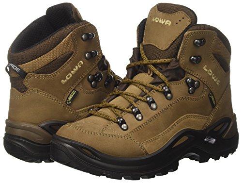 Lowa Renegade GTX Mid Ws Chaussures de montagne pour femme Marron (Taupe/sepia 4655)