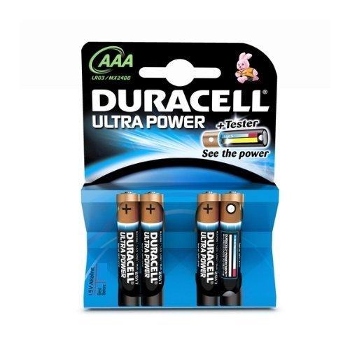 Duracell - Pile Alcaline - AAA x 4 - Ultra (LR03)