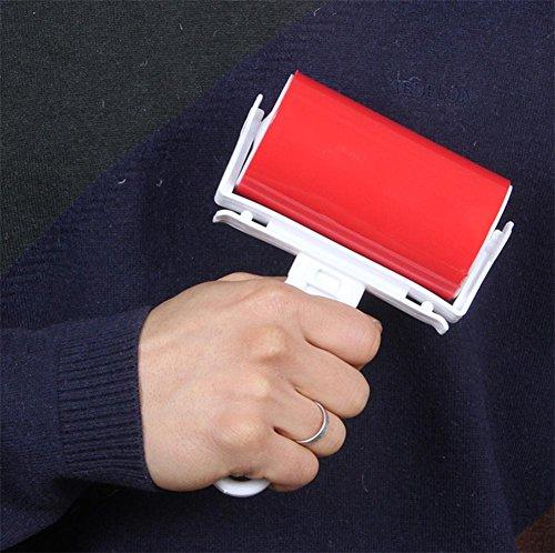 GNOONEQ Fusselrasierer Roller Klebriger Plüsch Hohe Qualität Mode Tragbar Langlebig Lint Razor, Red