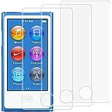 Protecteurs D'écran pour iPod Nano 7ème 8ème Génération, AFUNTA Lot de 3 Films de Protection en Verre Trempé, Couverture Pleine Anti-rayures Sans Bulle pour Apple iPod Nano 7 8
