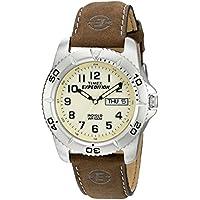 Timex T46681SU Orologio da Polso da Uomo, Pelle, Marrone