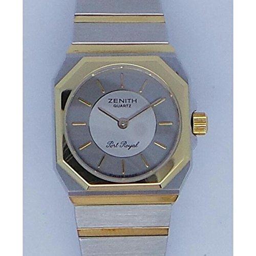 Uhr Zenith Port Royal 590360052Quarz (Batterie) Stahl Quandrante Silber Armband Stahl