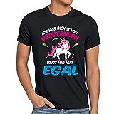 CottonCloud Ich hab dich schon verstanden - es ist mir nur egal Herren T-Shirt Einhorn Unicorn, Größe:L;Farbe:Schwarz