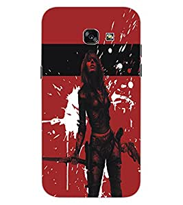 ColourCraft Warrior Girl Design Back Case Cover for SAMSUNG GALAXY A5 (2017)