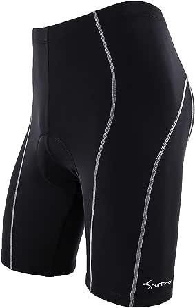 Sportneer Cycling Shorts Men Padded Bike Bicycle Cycle Shorts 4D Padded Pants Half Pants 4D Coolmax Padded, Comfort Anti-Slip Design Breathable & Absorbent, M-3XL