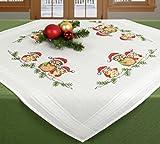 Stickpackung Tischdecke Mitteldecke Eulen mit Weihnachtsmütze
