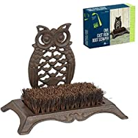 Gardman Owl Cast Iron Boot Shoe Scraper Brush 82248 Door Step Outdoor Indoor