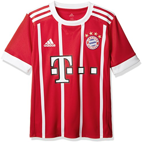adidas Kinder FC Bayern Heim Trikot, Fcb True Red/White, 140