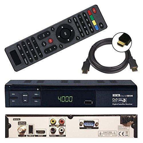 HD Sat Receiver Nokta ECO S10 (USB, HDMI, Audio cinch, Digital Audio Out, FULL HDTV, DVB-S2) + GRATIS HDMI Kabel - netshop25 - Digital-tuner, Hdmi