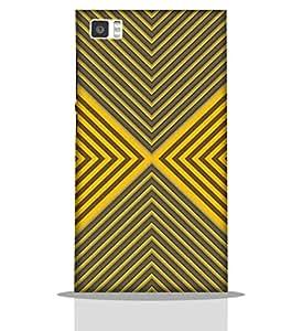 Yellow & Grey Design -Mobile Back Case Cover For Xiaomi Redmi Mi3