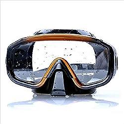 Lunettes de plongée Lunettes de plongée pour hommes lunettes de plongée en verre trempé résistant à l'impact Lunettes étanches à l'eau et anti-buée lunettes de plongée Set tuba Pour Hommes Femmes Enfa
